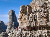 Klettersteig Dolomiten : Via ferrata klettersteige am gardasee dolomiten trentino italien